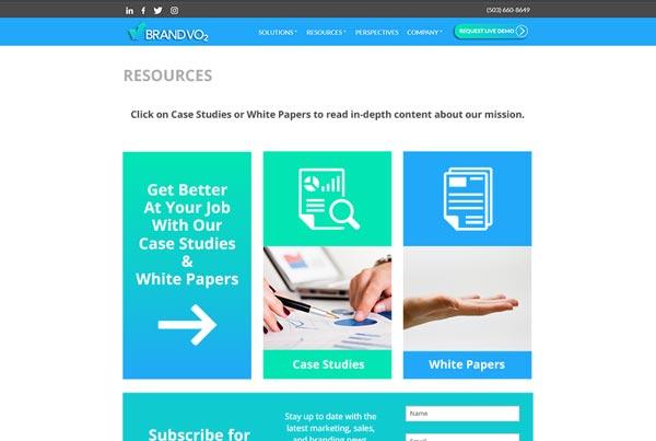 BrandVO2 Resources Webpage