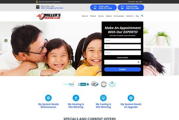 Millers Heating Website