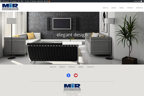 MIR Audio Website