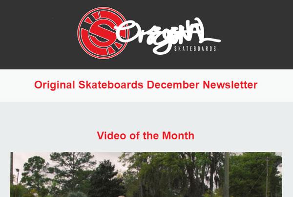 Original Skateboards HTML Newsletter
