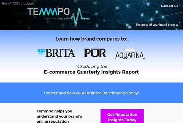 Temmpo Landing Page