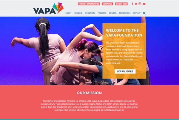 VAPA Website Proposed new design